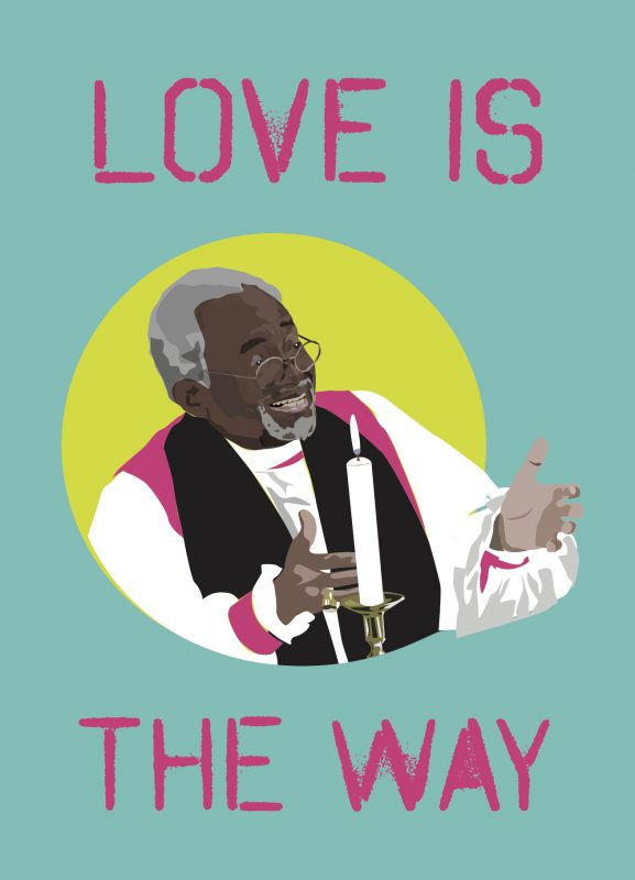 New Love Is Postcard Illustration with Bishop Michael Curry