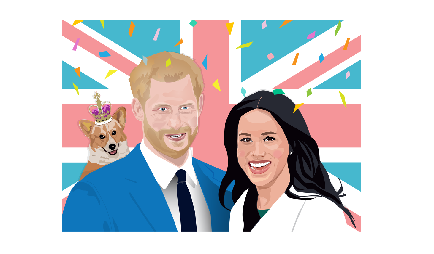 Harry & Meghan Wedding Postcard Design
