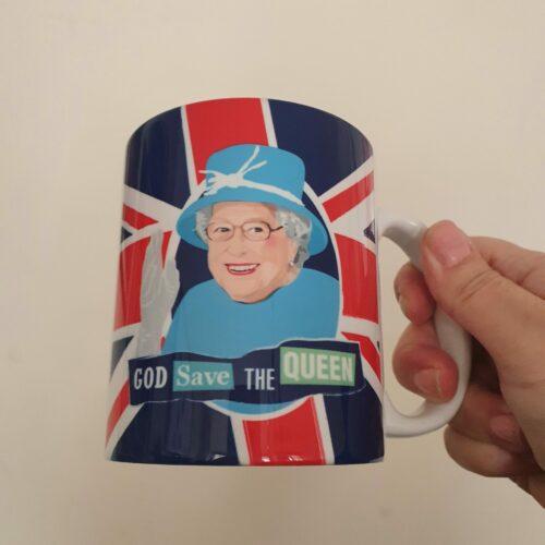 Queen Elizabeth mug union jac