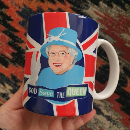 Queen Elizabeth mug union jac