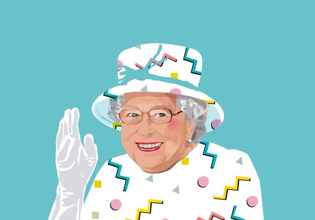 queen elizabeth sabi koz art