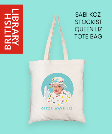 Sabi Koz Queen ELizabeth tote bag British Library