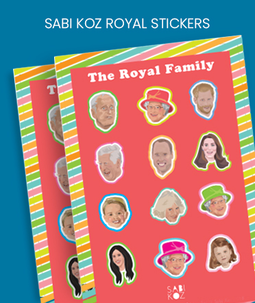 Sabi Koz Royal Family sticker set