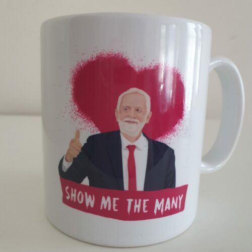 jeremy corbyn front mug red view by Sabi Koz
