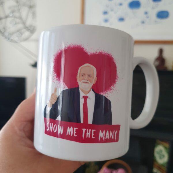 jeremy corbyn front mug red view by Sabi Koz