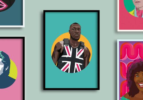 stormzy giclee framed print by Sabi Koz