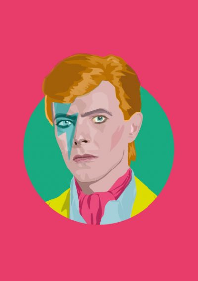 david bowie illustration by sabi koz