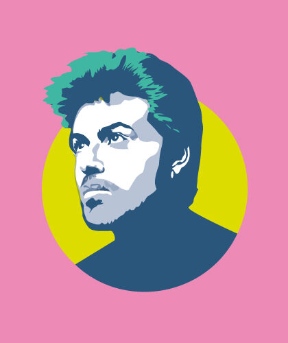 George Michael Illustration by Sabi Koz