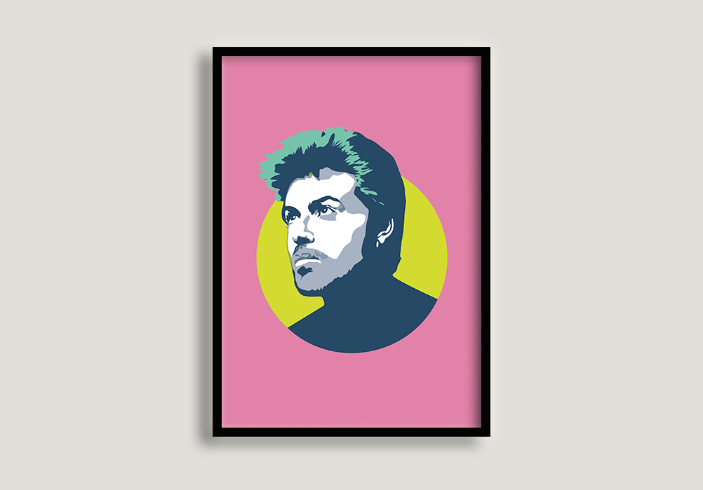 george michael print by sabi koz