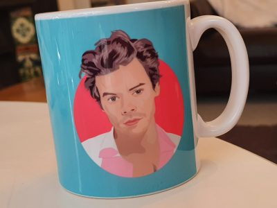 harry styles mug blue