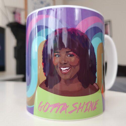 lizzo mug sabi koz Gotta shine words on mug