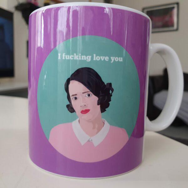 fleabag love mug fleabag gift mug purple