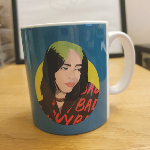 Billie Eilish mug Sabi Koz mug Green Mug