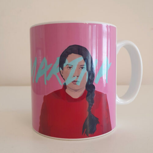 Marina abramovic and Ulay mug by Sabi Koz - pink 10oz mug