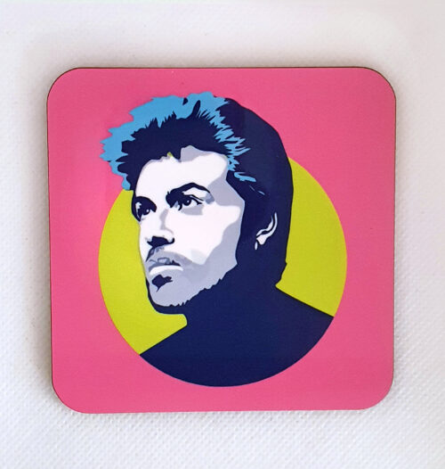 sabi koz music icon George Michael coaster
