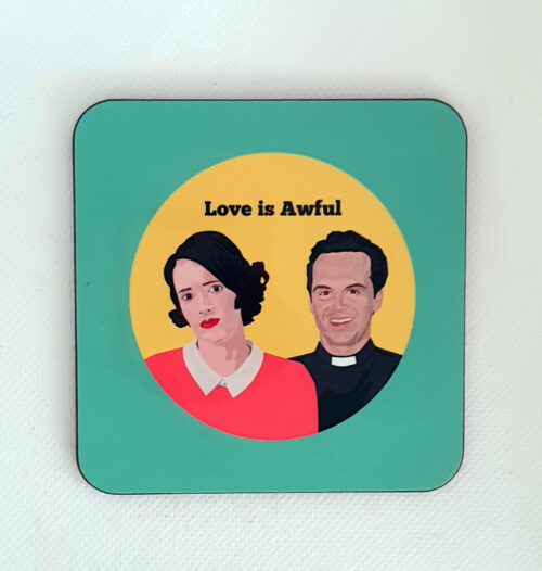 sabi koz music icon Fleabag hot priest coaster