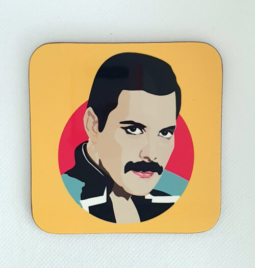 sabi koz music icon Freddie Mercury coaster
