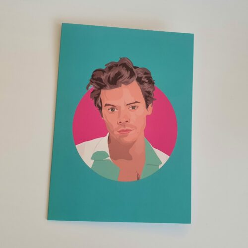 harry styles blue birthday card