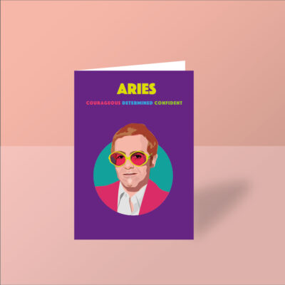 elton john greeting card birthday card aries starsign card