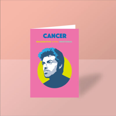 george michael card cancer starsign card