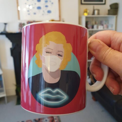 Marilyn Monroe Mask Mug