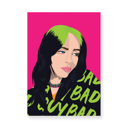 Billie Eilish Pink Print