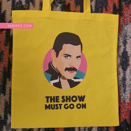 FreddieMercury-Yellow-totebag