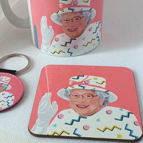 Queen-Liz-Pink-coaster- Sabi Koz