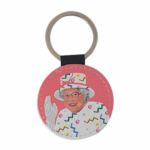 Queen-pink-keyring-white