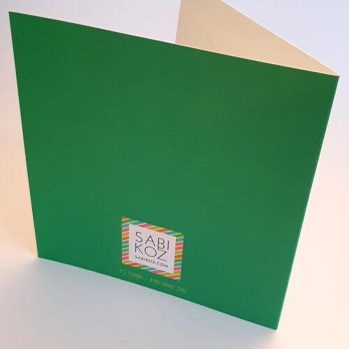 Fleabag Christmas Card - Green and Pink Sabi Koz