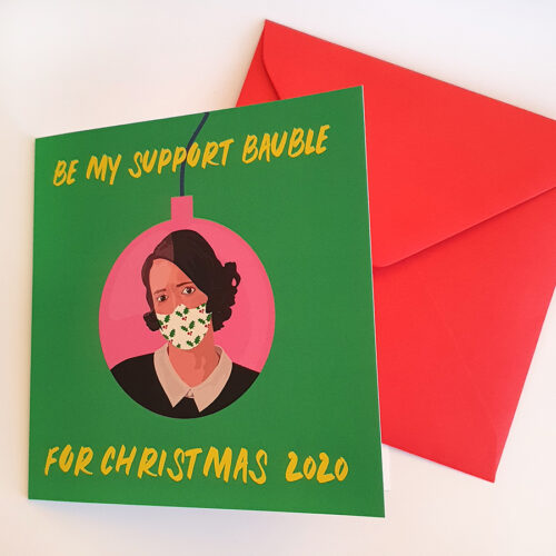Fleabag Christmas Card - Green and Pink Sabi Koz