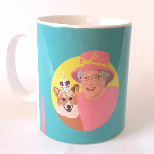 The Queen's Corgi Blue mug Sabi Koz