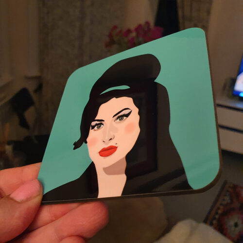 Sabi Koz Amy Winehouse Green Coaster