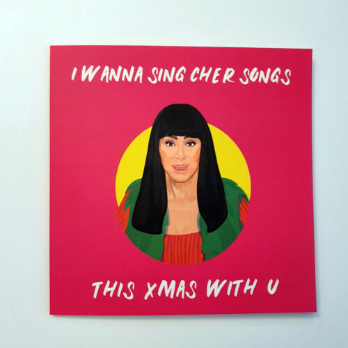 Cher Christmas Card