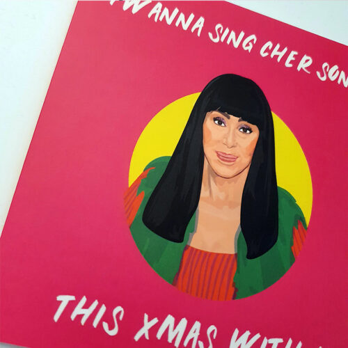 Cher Christmas Card