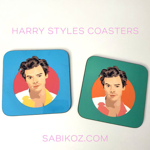 harry styles coaster and mug green sabi koz