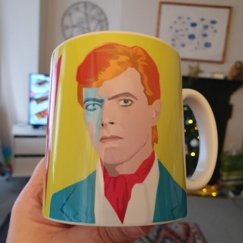 david bowie mug lightning thunderbolt