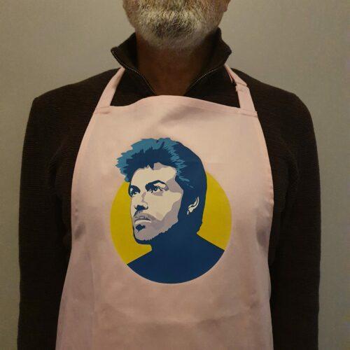 George Michael apron pink Sabi Koz
