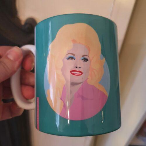 Dolly Parton Green Mug by Sabi Koz