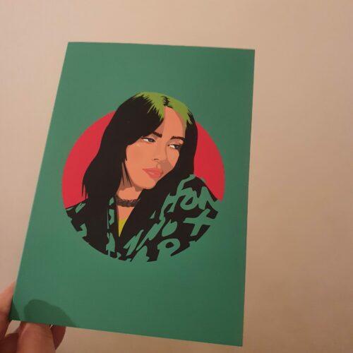 Billie Eilish Card - Sabi Koz Illustration